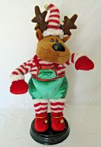 Gemmy Christmas Reindeer Animated Musical Dances Moves Shake Your Booty