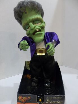 Halloween Decoration Prop Gemmy Dancing booty shakin monster frankenstein