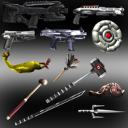 Deadpool weapons and props by ik1l73r-d6ey4e6