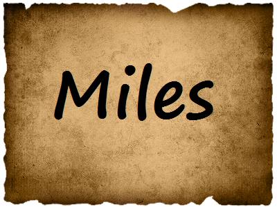 Vote for Miles