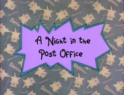 A Night in the Post Office title card