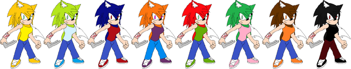 Skyler The Hedgefox Palette Swaps