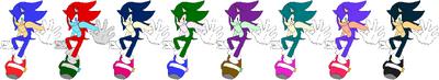 SonicBlue Speed Palette Swaps