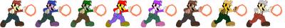 Mario Flame Palette Swaps
