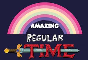 Amazing regular time logo