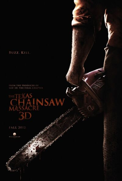 Leatherface 3d poster