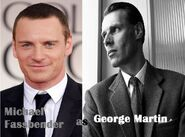 Michael Fassbender as George Martin