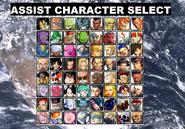 DBZ vs. SF Assist Character Select