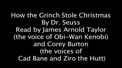 How the Grinch Stole Christmas read by Obi-Wan and Cad Bane