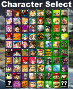 LoZvMD Character Select (All Characters Unlocked)