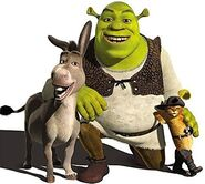 Shrek donkey and puss in boots
