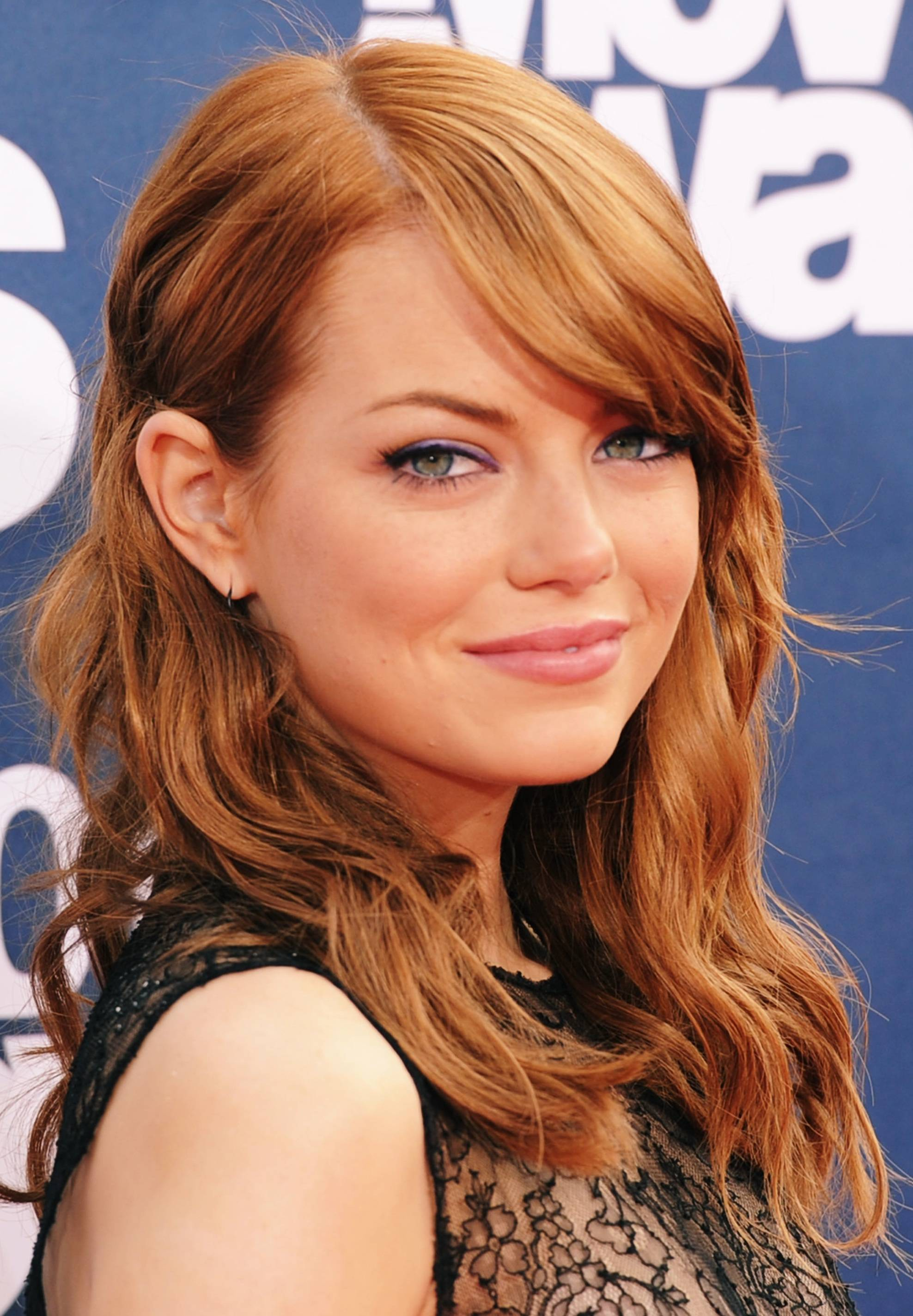 Emma Stone Red Hair Color Light Shade