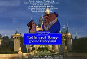 Belle and Beast goes to Disneyland Poster