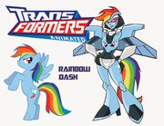 Rainbow Dash transformers