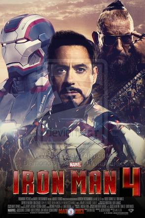 Iron man 3 fan made movie poster v6 by diamonddesignhd-d5w7wpv