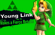 Young Link SSB4 Reveal