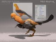 De-Avianed Andean Cock of the Rock