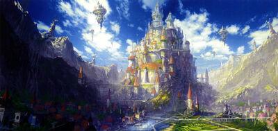Anime castle scenery