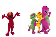 Elmo Barney BJ and Baby Bop