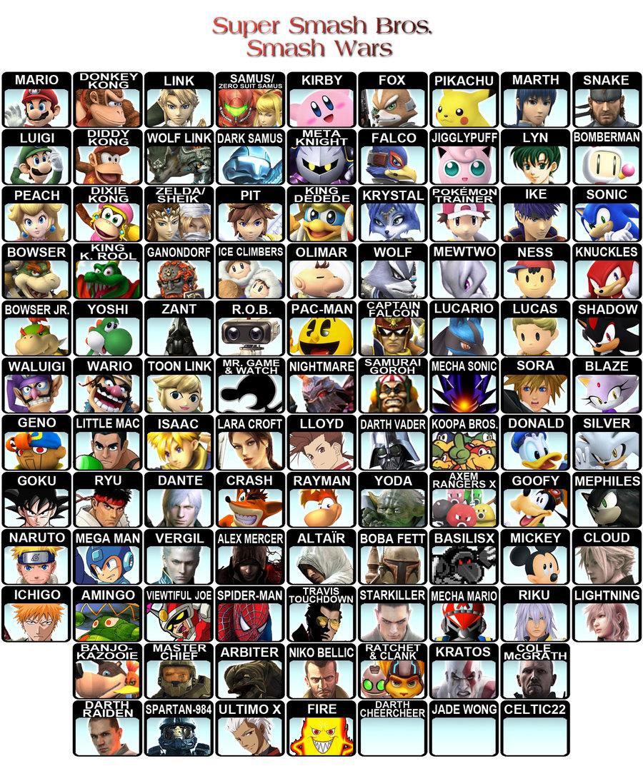 Smash Wars Roster 2