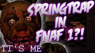 Springtrap in Five Nights at Freddy's 1?! Old location!