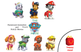 Paw Patrol Happy Meal Toys