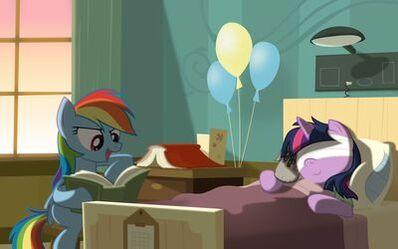 Rainbow-dash-reading-to-twilight-sparkle-in-the-hospital-27982-400x250