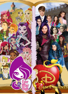 Ever After High X Disney's Descendants Poster