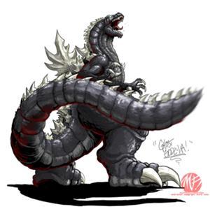 Neo Ghost Godzilla (Mini-sized Godzillabrawler Avatar Version)