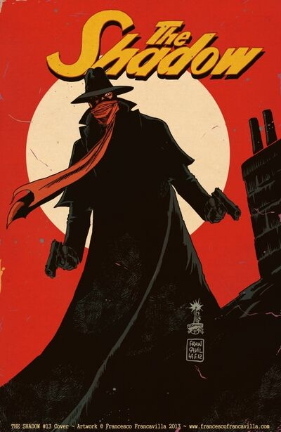 The shadow 13 cover francavilla title low