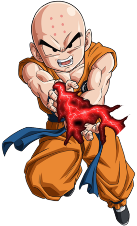 Krillin Red Force Lightning Kamehameha