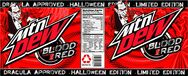 Soda for Halloween Blood Red Mountain Dew