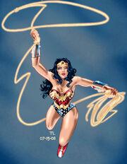 Wonder Woman flying by DragonArcher
