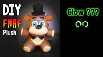 DIY Glow in the Dark Freddy Plush FNAF Tutorial Collaboration with ArtzieRush