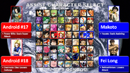 DBZvSF Assist Character Select