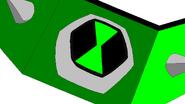 Downgradenoid's omnitrix green colored