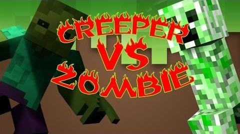 Creeper vs Zombie Rap