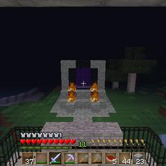 El portal visto desde la fortaleza.