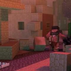El demoledor destruyendo una casa.