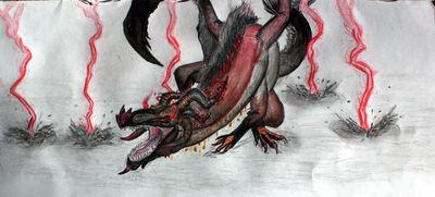 Solstice Conquest War Fatalis Artwork by Rathalosaurus rioreurensis