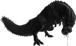Obsidian Deviljho 5th Gen Render by Chaoarren