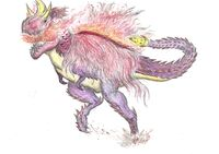 Brutal Tirraukronus Artwork by Rathalosaurus rioreurensis