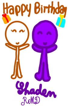 Happy Birthday Art Gift for Shaden by Kiki