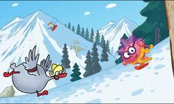 Самоходные лыжи иллюстрация