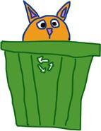 Коша в мусорном баке