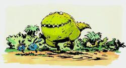 Шорк и Крош убегают от динозавра