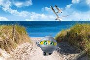 Биби на фоне Балтийского моря