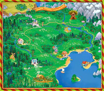 Карта Страны Смешариков
