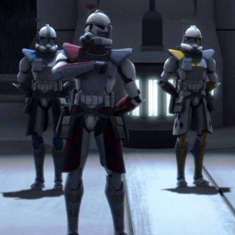 Jaden, Joker i Falco na odprawie przed misją.