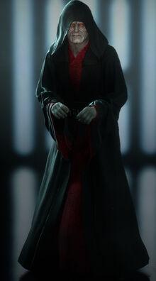 Darth Sidious w mrocznych szatach Wiecznych Sithów